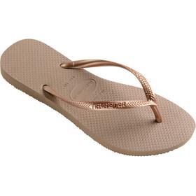 havaianas Slim - Sandales Femme - marron